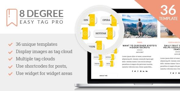 8Degree Easy Tags Pro - WordPress Tagging Plugin