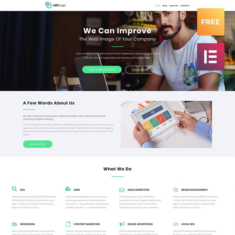 ABCLogic - Free WordPress Template