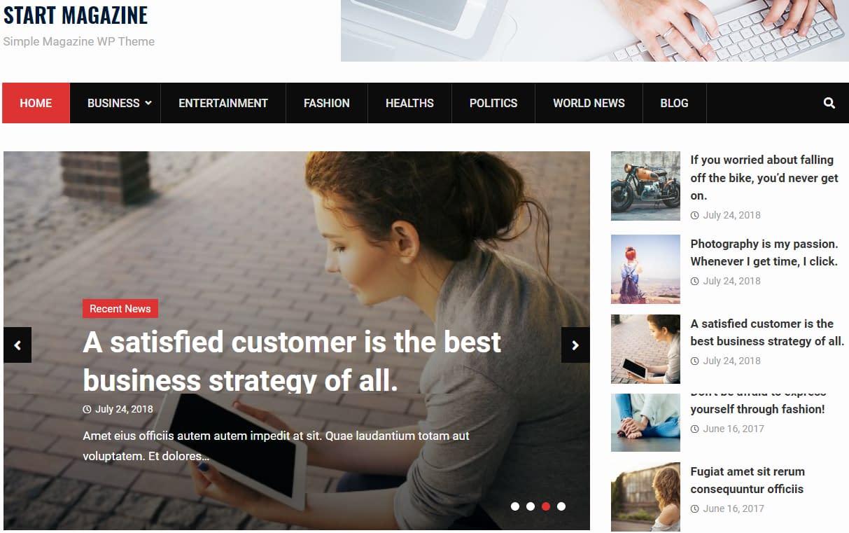 Start Magazine - Free WordPressMagazine Theme