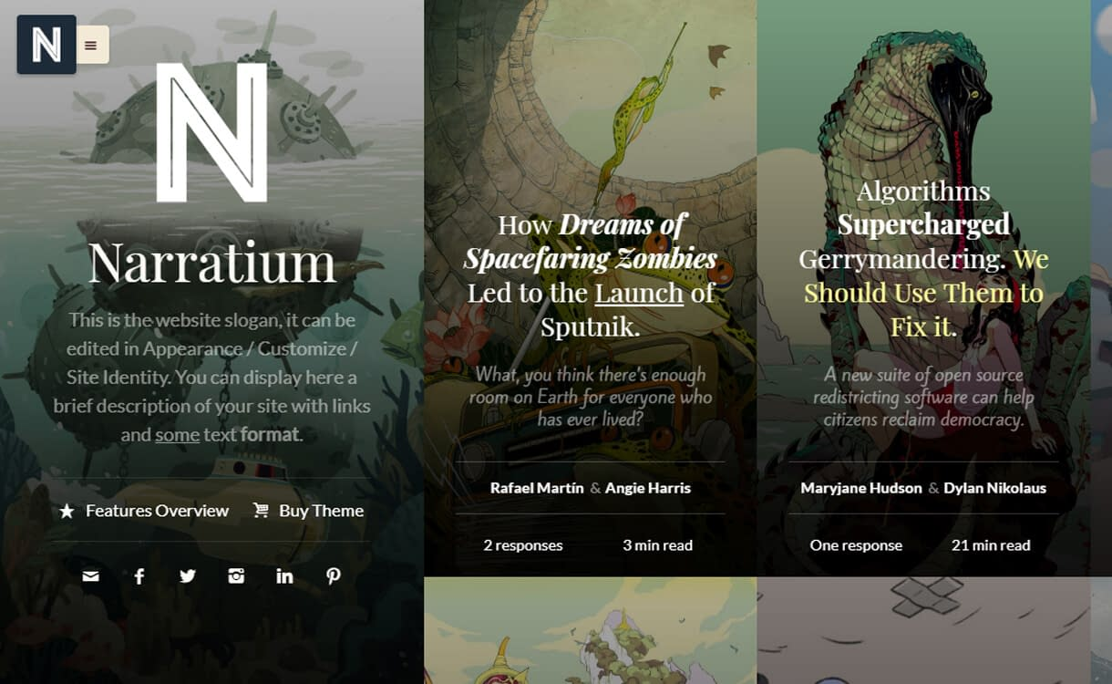 Narratium-WordPress Blog Themes