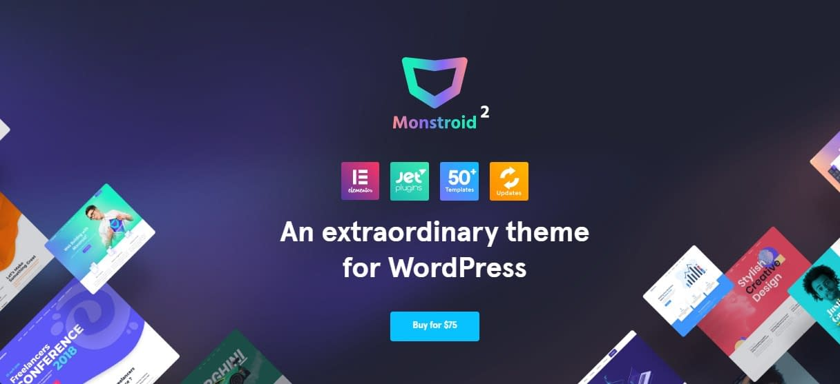 Monstroid2 - WordPress Multipurpose theme