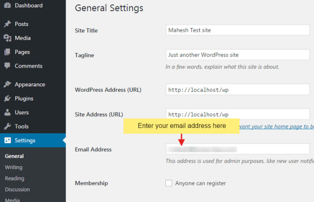 How to change admin email of your WordPress website?