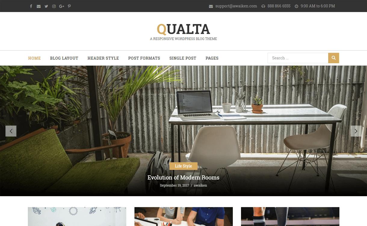 Qualta-WordPress Blog Themes