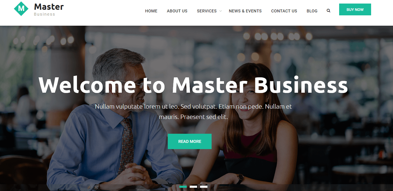 Master Business - Free WordPress Business Theme