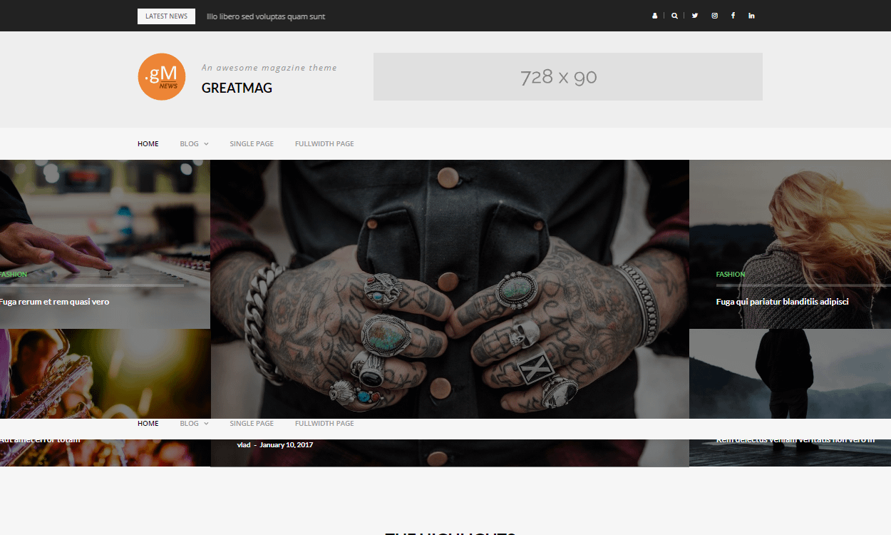 GreatMag - Best Free WordPress News-Magazine/Online Editorial Themes