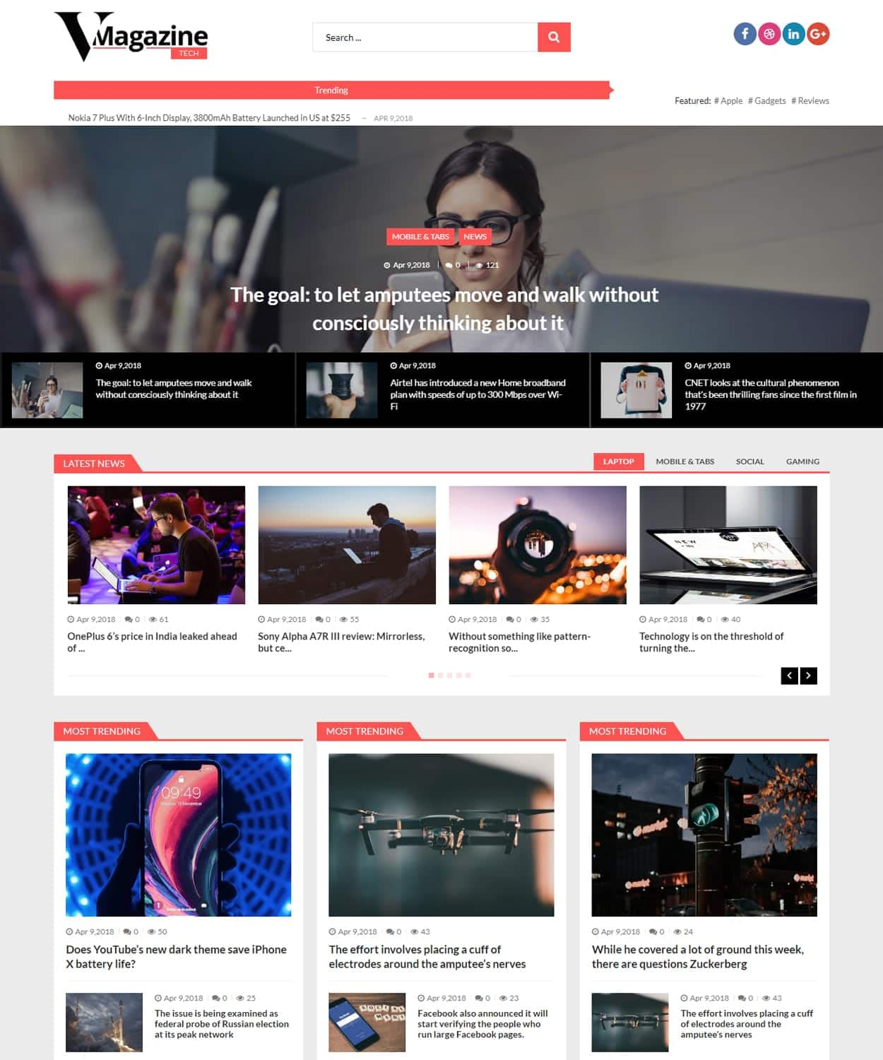 Tech Magazine Demo - WordPress Magazine Theme