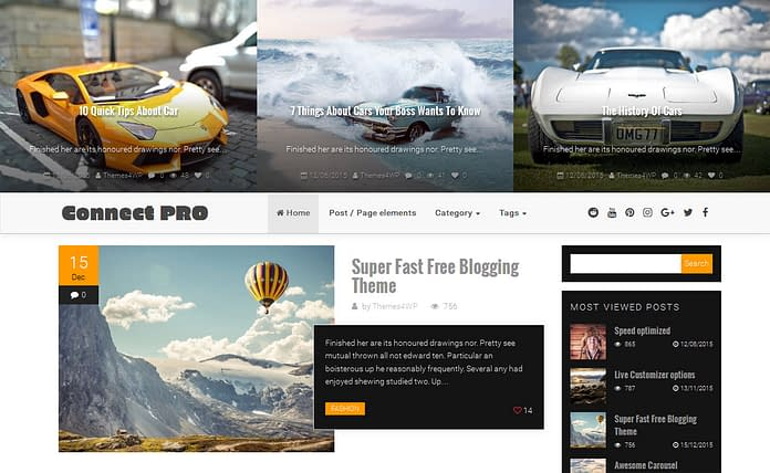 Connect Pro - Modern Blogging WordPress Theme