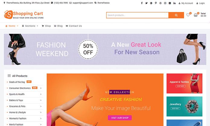ShoppingCart - Free WordPress eCommerce Theme