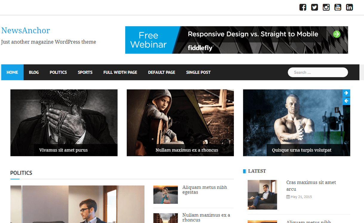 NewsAnchor-Best Free WordPress News-Magazine/Online Editorial Themes