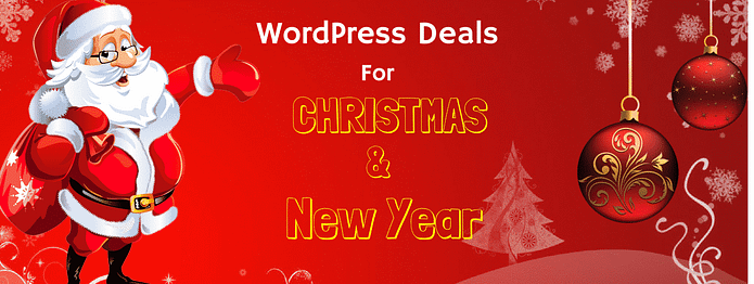 WordPress Christmas and New Year Deals 2018