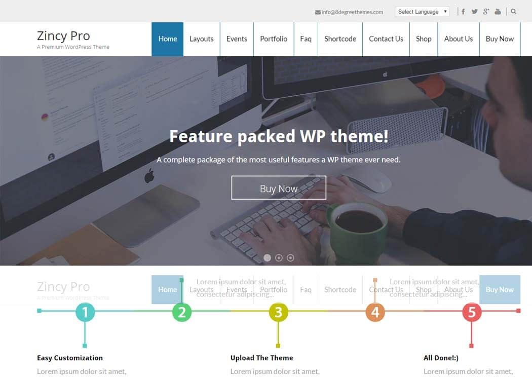 Zincy Pro - Best Premium WordPress Themes and Templates