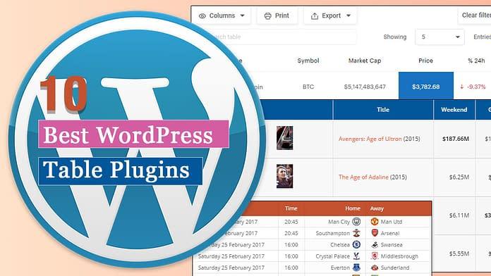 Best Table WordPress Plugins