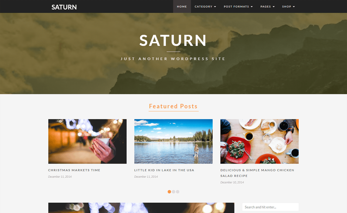 SATURN-Best Travel Blogs WordPress Themes