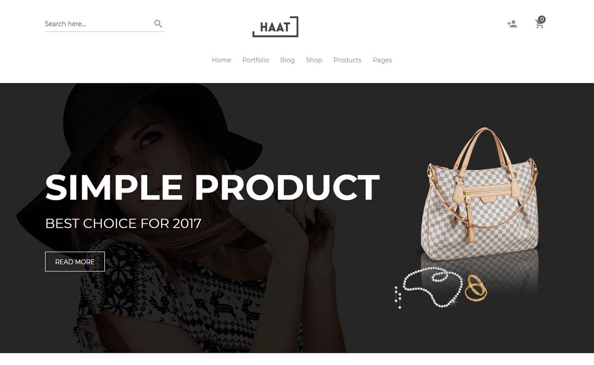 Haat-Best Premium WordPress eCommerce WooCommerce Online Store Themes 2018