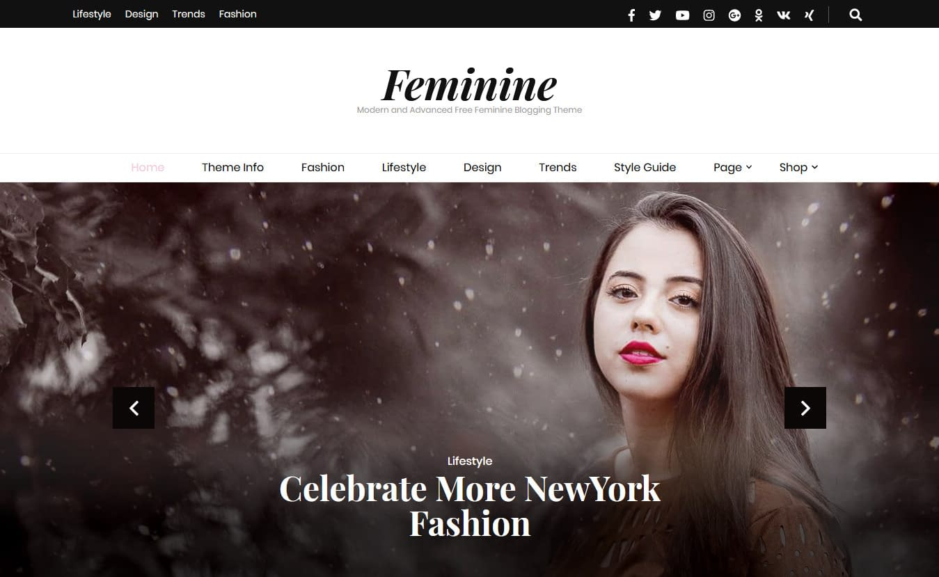 Blossom Feminine - Free Feminine WordPress Theme