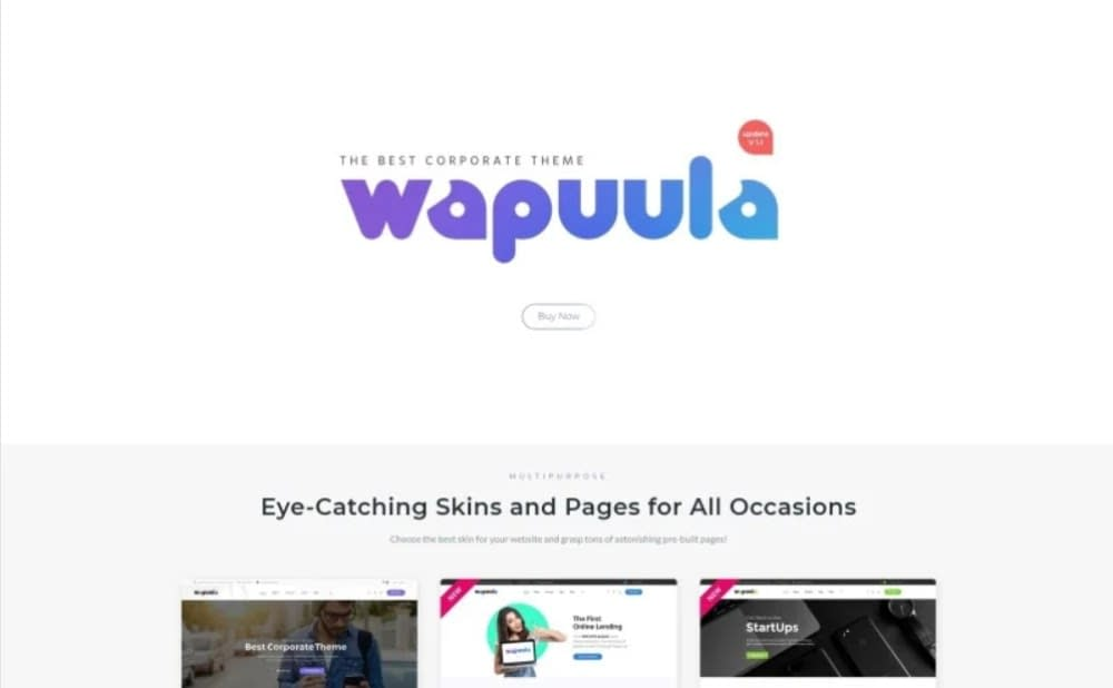 Wapuula - Multipurpose Corporate WordPress Themes With Visual Composer