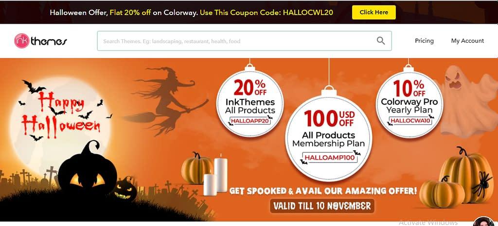 InkThemes - Halloween Offer