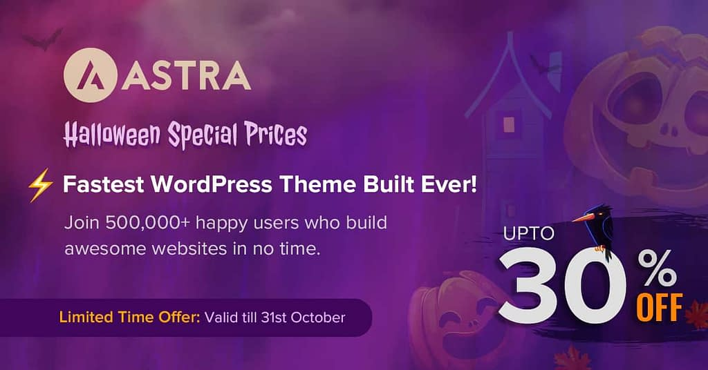 Astra - Halloween Offer 2020