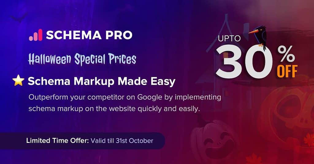 Schema Pro - Halloween Offer 2020