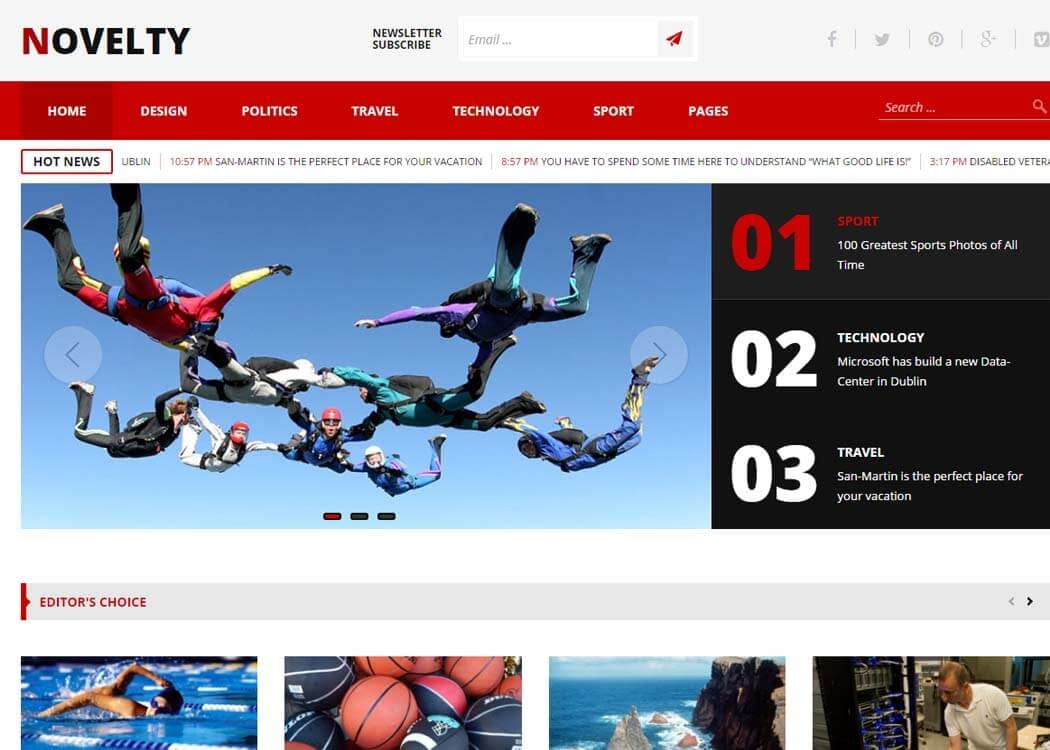 Novelty - WordPress News- Magazine Theme