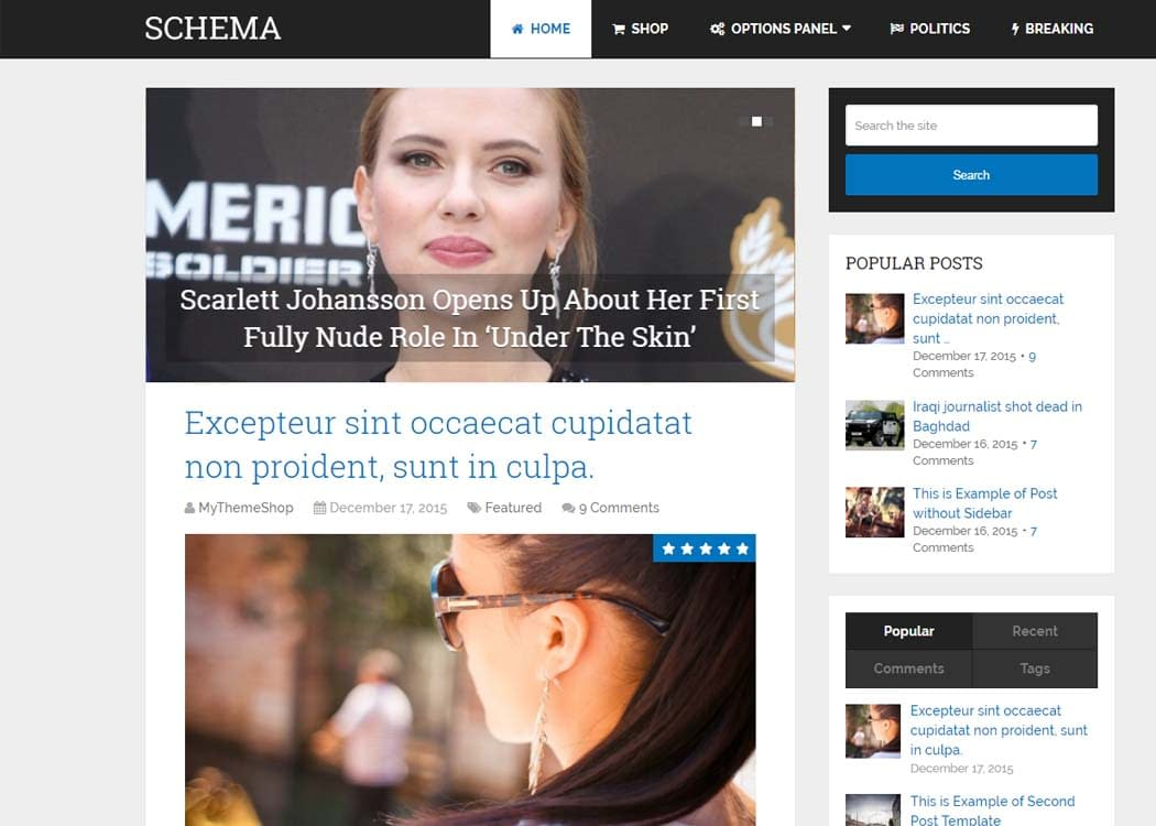 Schema - WordPress Blog Theme