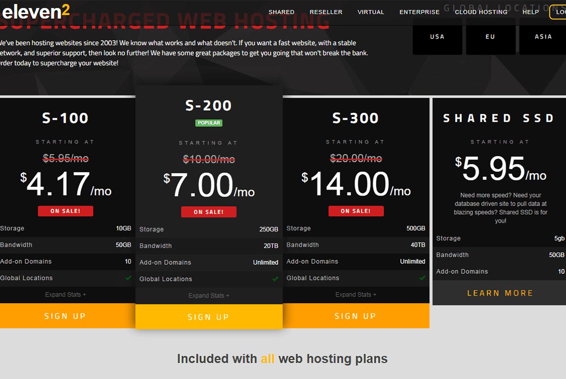 Eleven2 WordPress Hosting Plans
