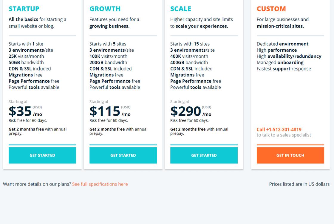 WP Engine WordPress Hosting Plans