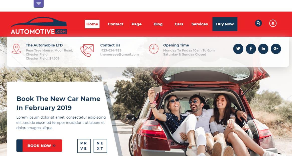 Sayara Automotive - Best Free Home Rental and Property WordPress Themes