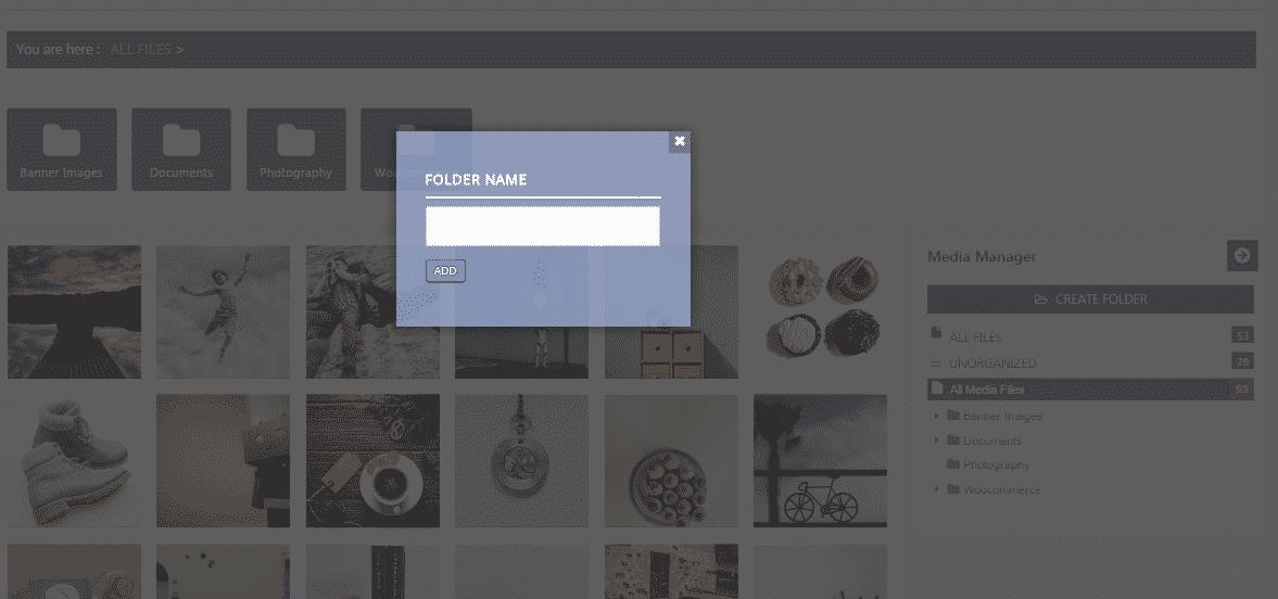 WP Media Manager: Create New Folder