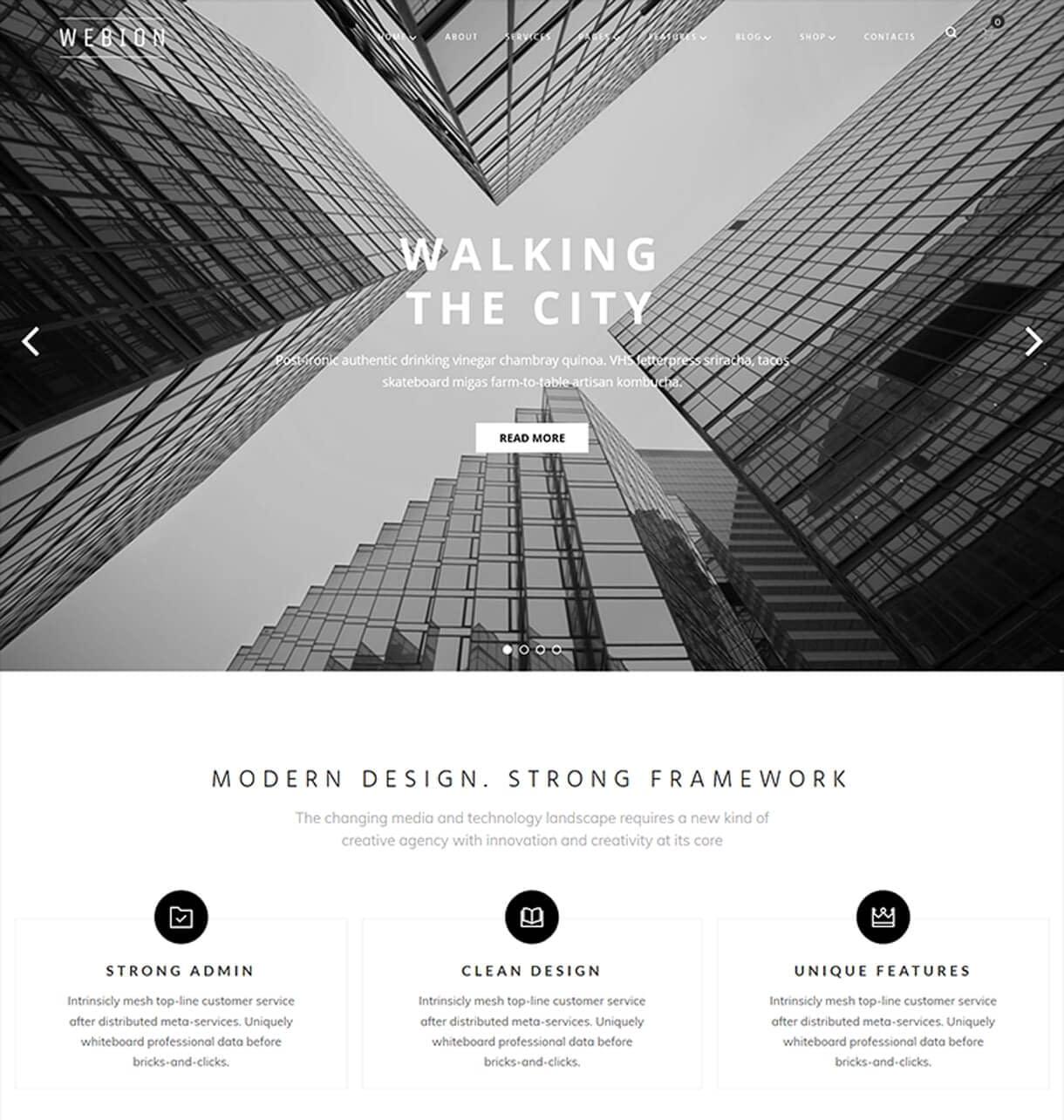 Clean and Minimal Design-Minimal Elementor Multipurpose WordPress Theme