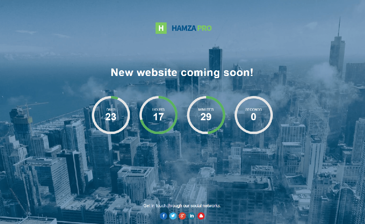 Hamza Pro - Best Coming Soon and Under Maintenance WordPress Themes and Templates