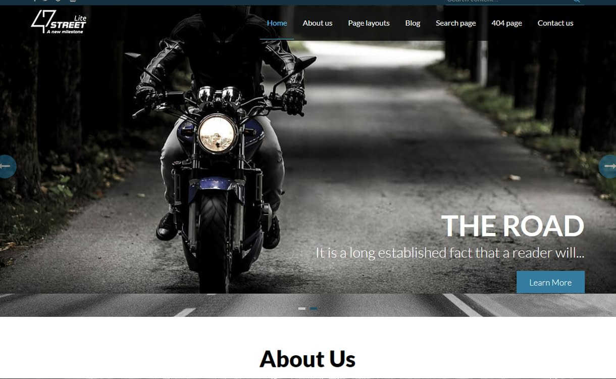 FortySeven Street - Free WordPress Theme