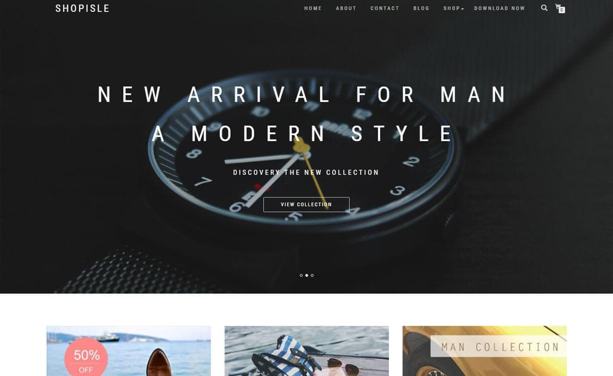 ShopIsle - Best Free WordPress Themes January 2017