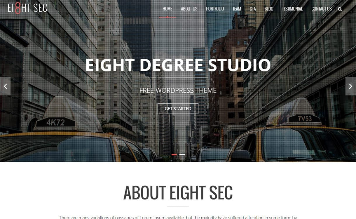 Eight Sec - Best Free WordPress Construction Company Themes 2017