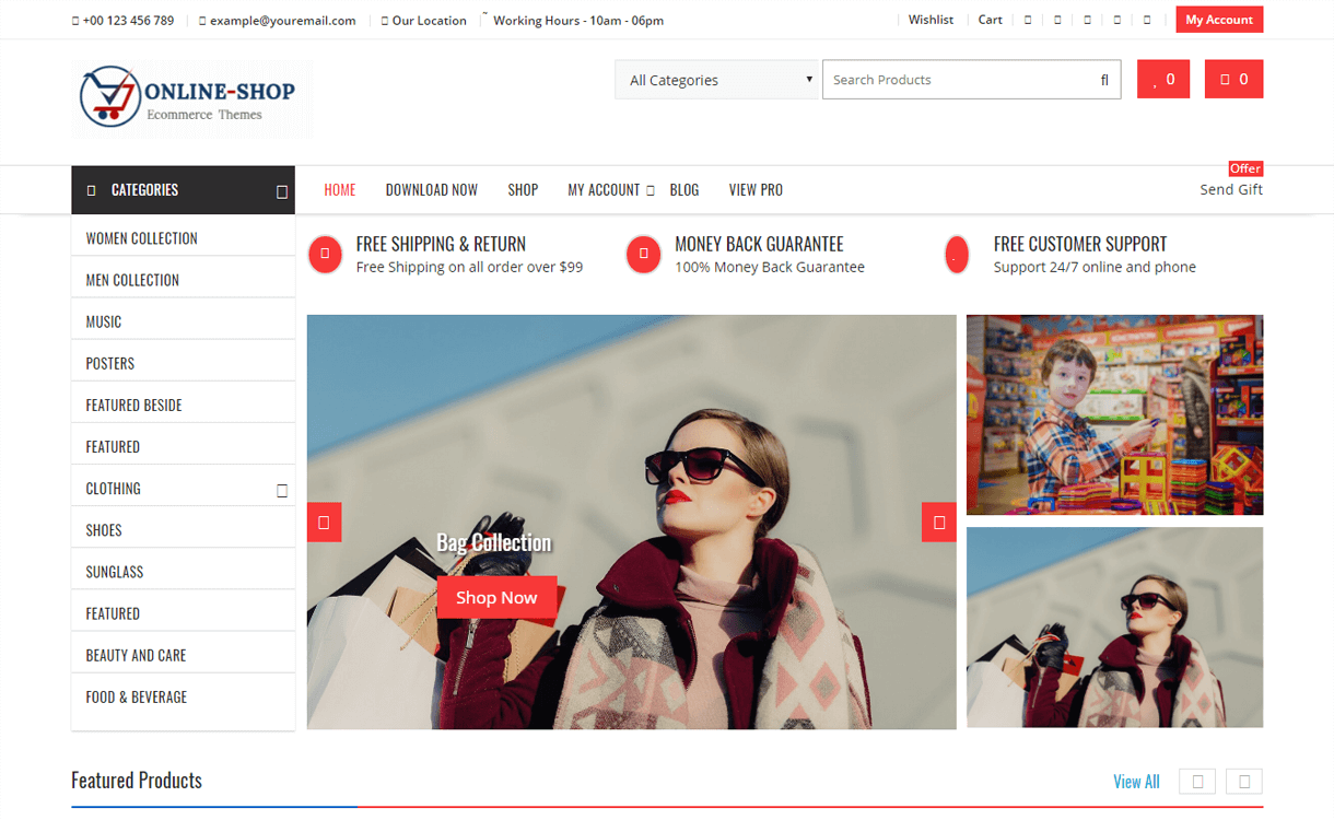 Shopline-Best Free WordPress eCommerce Themes