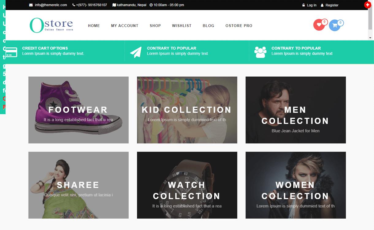 oStore-Best Free WordPress eCommerce Themes