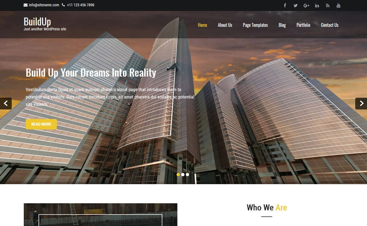 Buildup-Best Free WordPress Construction Company Themes