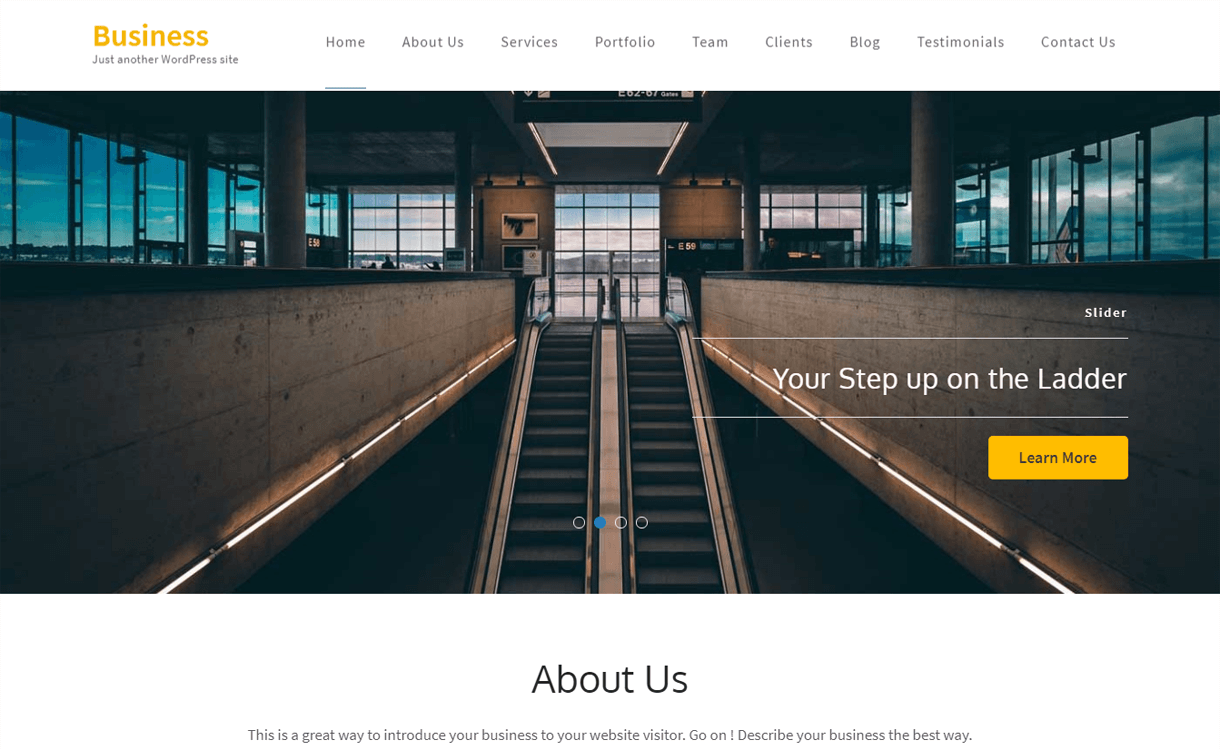 Business One Page-Best Free One Page WordPress Themes