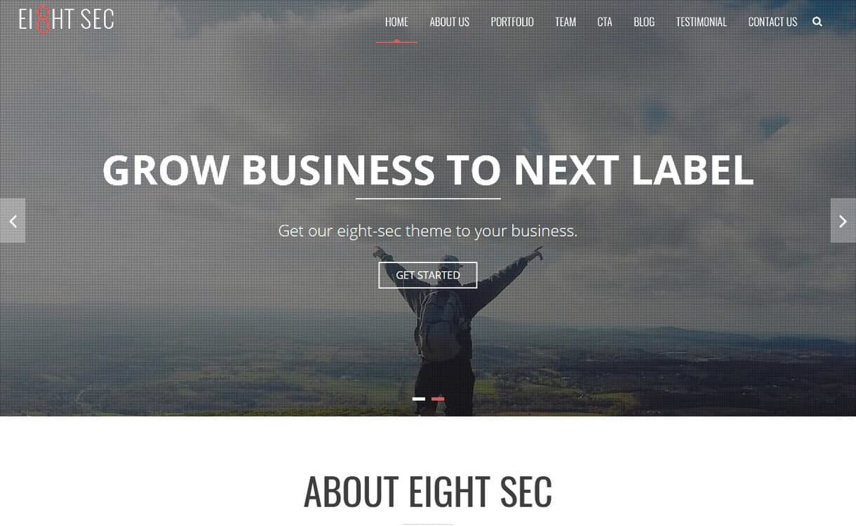 Eight Sec-Best Free One Page WordPress Themes
