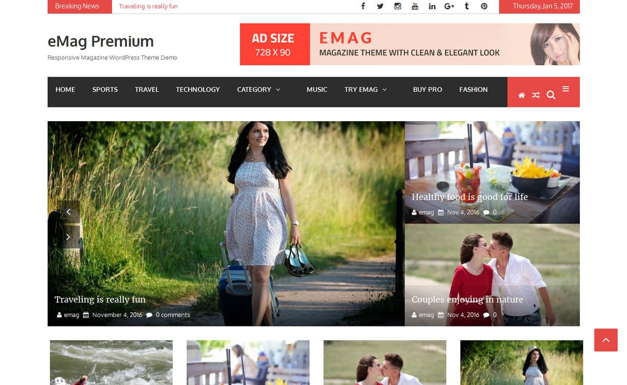 eMag - Best Free WordPress Themes January 2017