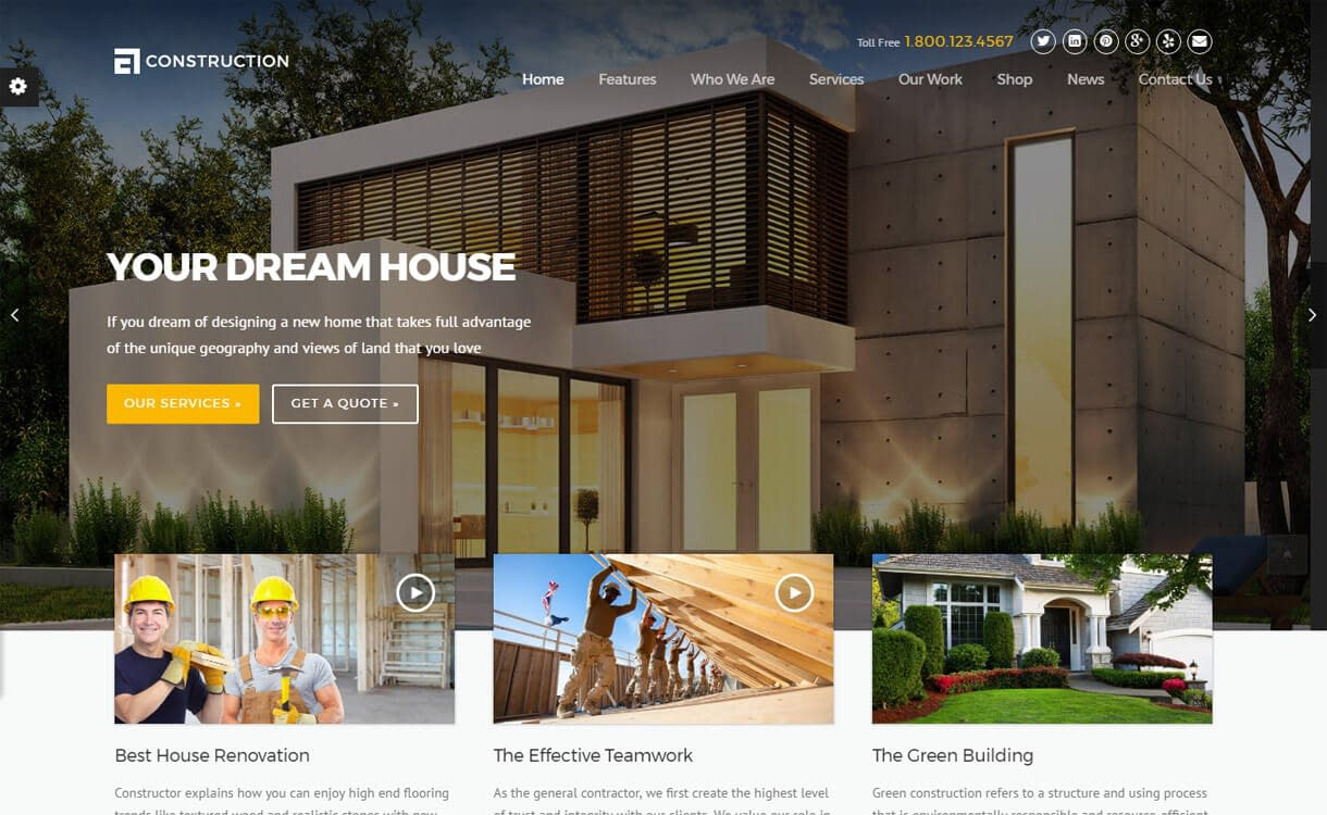 Construction- Best Premium WordPress Construction Company Themes 2018