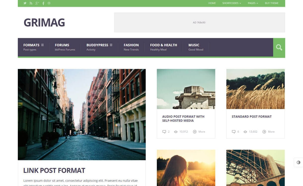 GriMag - Premium WordPress News-Magazine Themes