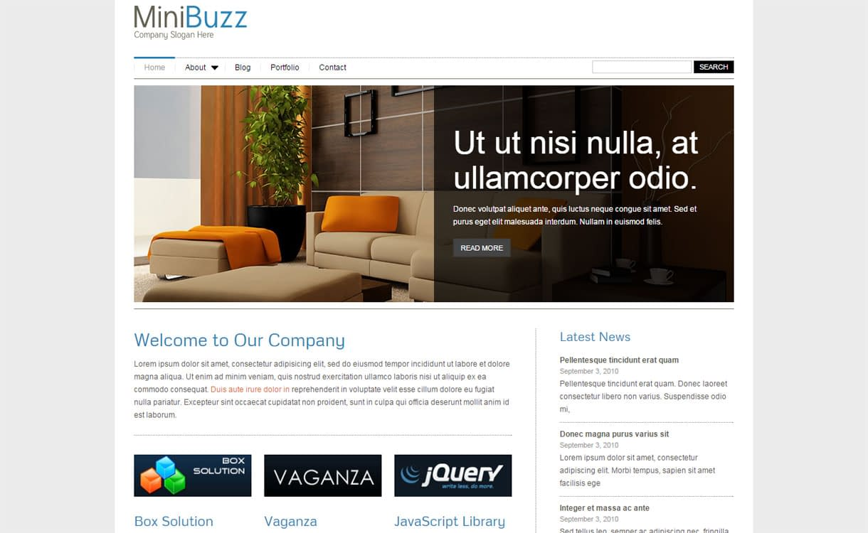 MiniBuzz - Premium Business WordPress Theme