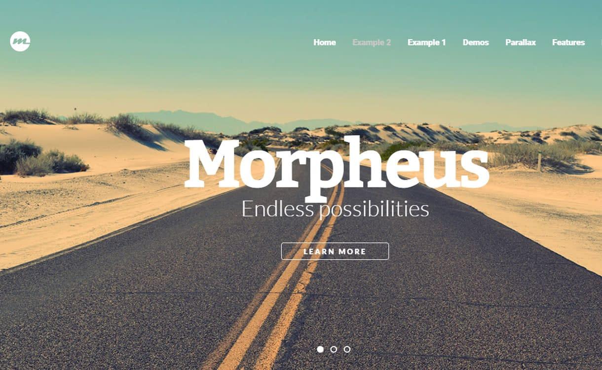 Morpheus - Best Premium WordPress One-Page Themes 2017