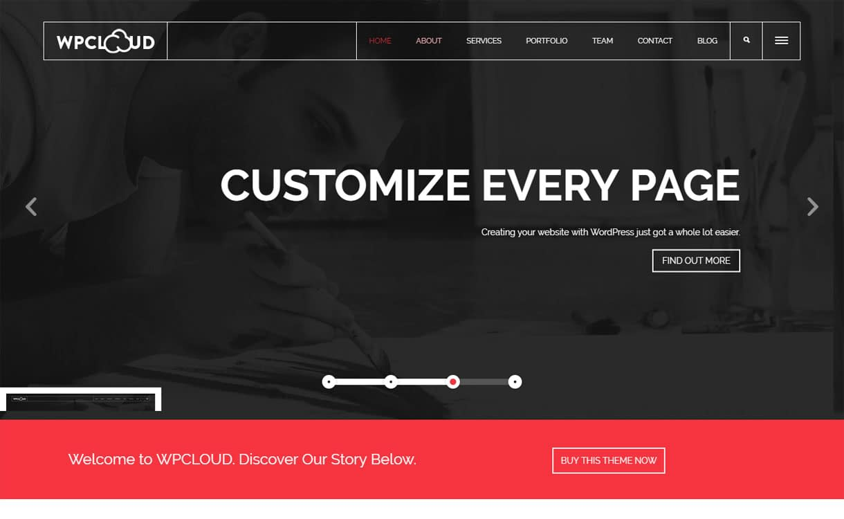 WPCloud - Best Premium WordPress One-Page Themes 2017
