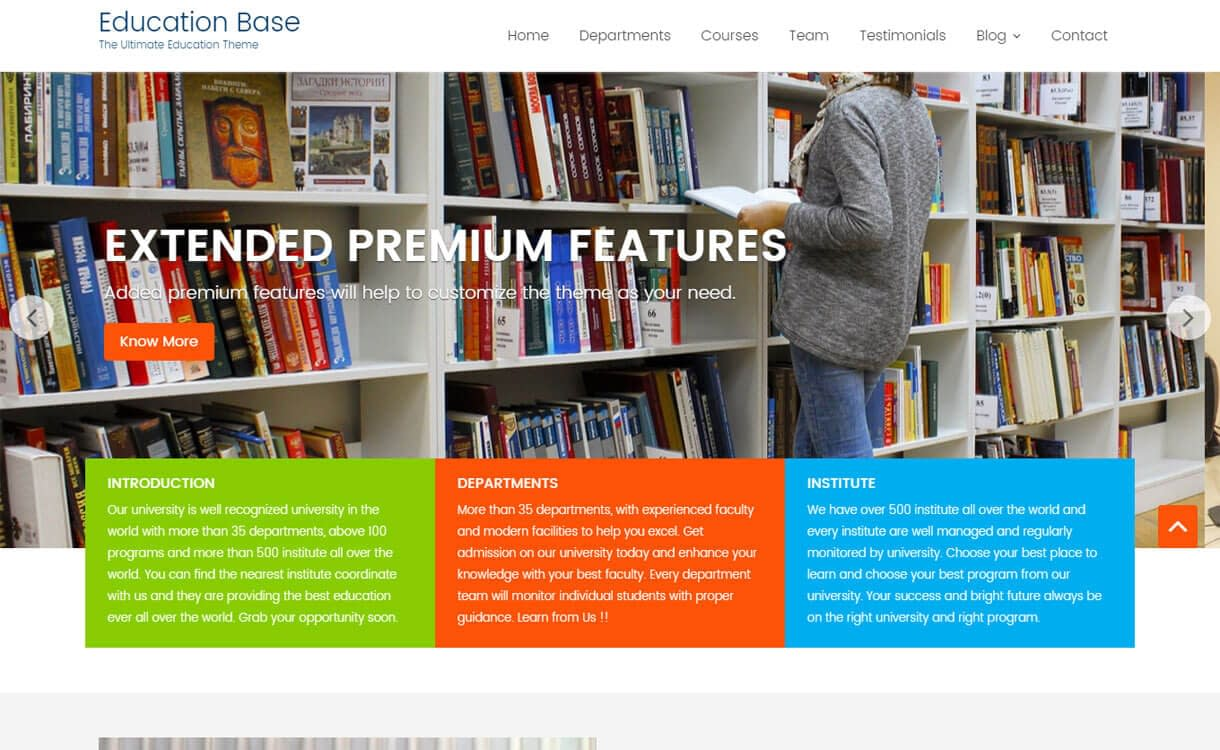 Education Base - Best Free WordPress Education Themes 2018