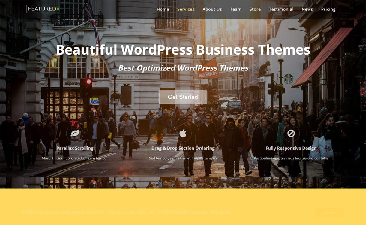 Featured - Premium Business WordPress Theme for 2017