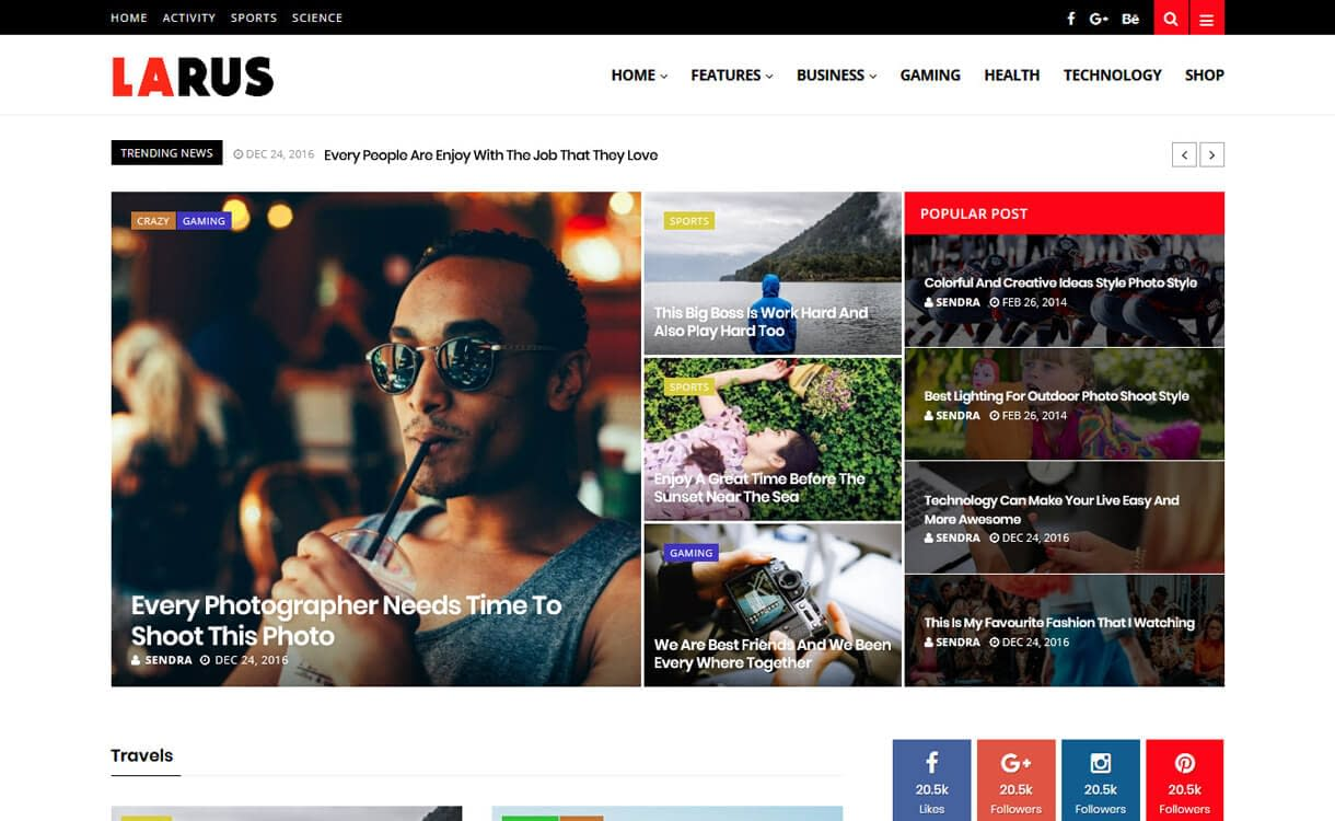 Larus-WordPress Blog Themes