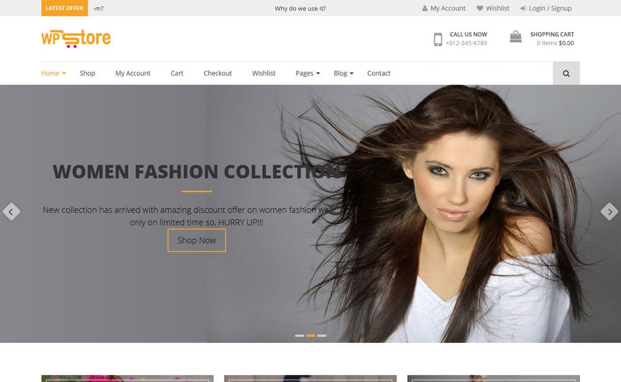 WP Store Free WordPress WooCommerce Theme