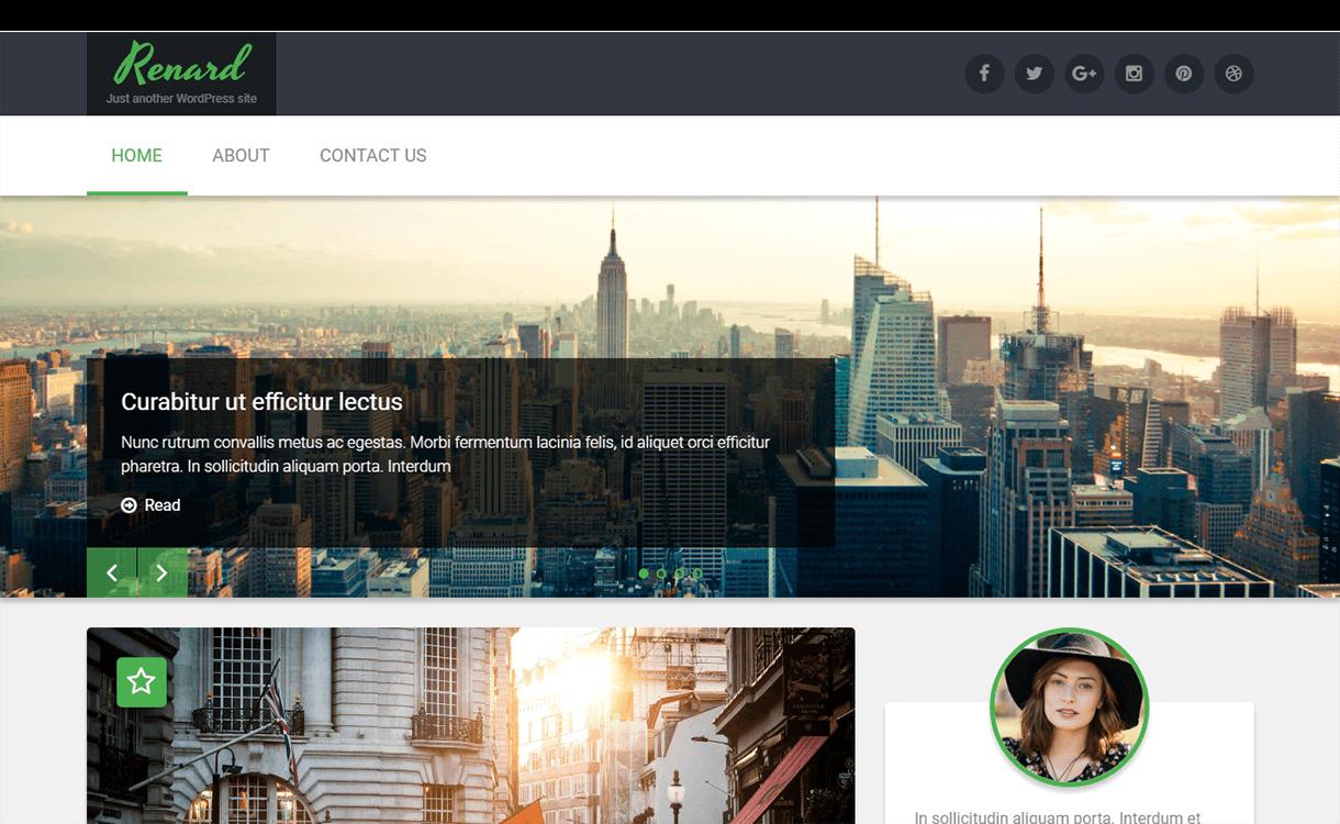 Renard-WordPress Material Design Theme